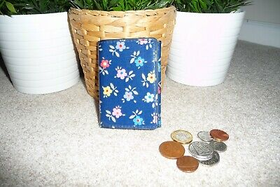 Ladies CATH KIDSTON Blue With Floral Pattern Card Holder / ID Wallet • 7£
