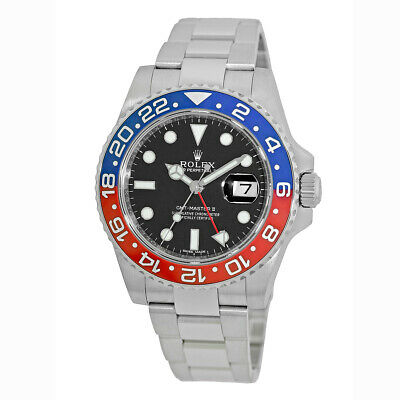 $ CDN44458.28 • Buy ROLEX 18K White Gold 40mm GMT Master II Pepsi 116719 Warranty Card 2018 MINTY