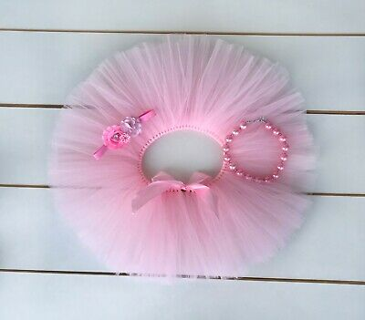 AU38 • Buy Light Pink Cake Smash Outfit - First Birthday Tutu Set - Baby Girl
