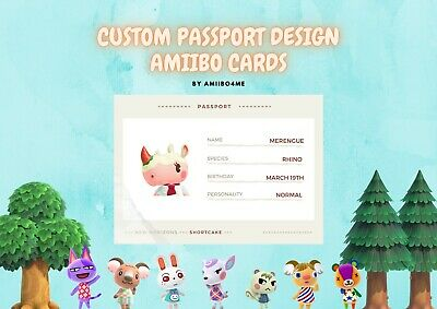 AU6.60 • Buy Animal Crossing Custom Handmade Amiibo Cards NFC | UNOFFICIAL