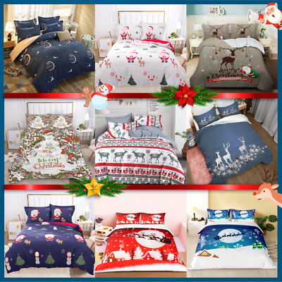 AU35 • Buy Single Double Queen King 2020 New Christmas Xmas Quilt Doona Duvet Cover Set