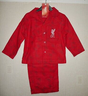 BOYS OFFICIAL LIVERPOOL F.C LFC FLANNEL WINCEYETTE PYJAMAS AGES 18-24 To 4-5 • 4.99£