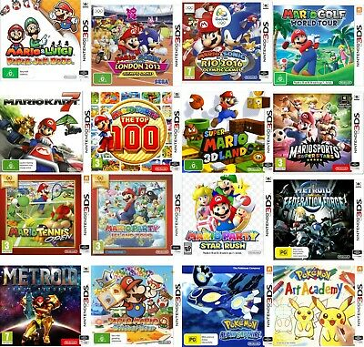 AU124.95 • Buy 60 3D Games In One For Nintendo 2DS/2DSXL/3DS/3DS XL Popular Tiles-Limited Stock