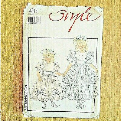 Uncut Unused Sewing Pattern Girls Childrens Bridesmaid / Party Dress 25  Chest • 7£