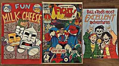 $28.99 • Buy Bill And Ted Excellent Fun With Milk Cheese Fight Man #1 Evan Dorkin Comics Lot