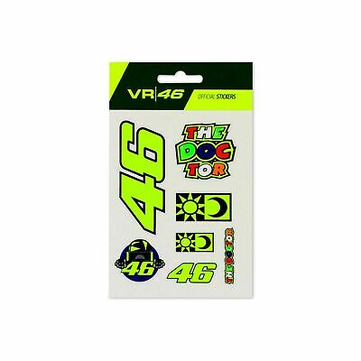 VR46 Valentino Rossi Stickers Small Set Classic Official Motorcycle VRUST399703 • 11.49£