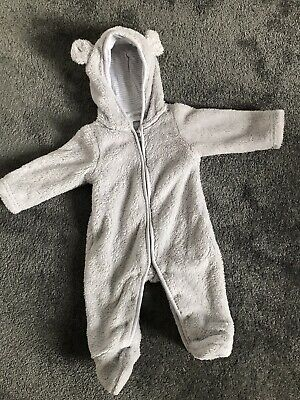 The White Company Snowsuit Pramsuit 0-3 Months • 10£