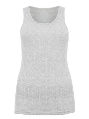 £5.80 • Buy Brand New M&S Thermal Pointelle Vest IN GREY AND IVORY