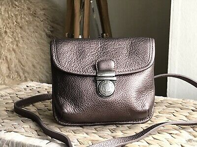 Hobbs NW3 Genuine Leather Metallic Small Shoulder Cross Body Bag Purse • 44£