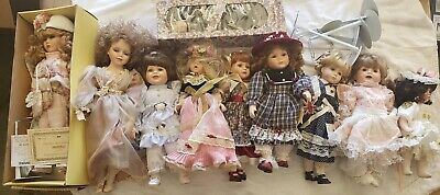 $ CDN79.29 • Buy 10 Porcelain Doll Lot/collectables And 7 Stands