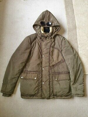 CP Company Jacket Coat Olive Green With Det. Goggle Hood AW 2012 Rare Immaculate • 50£