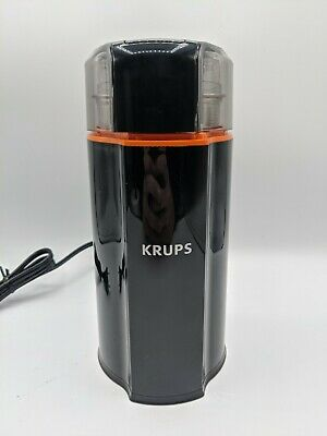 KRUPS Silent Vortex Electric Grinder For Spice Dry Herbs & Coffee 12 Cups, Black • 26.58£