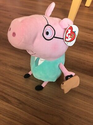 DADDY PIG SOFT TOY PEPPA PIG PLUSH New With Tags • 6.50£