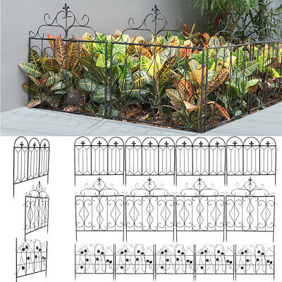 £49.96 • Buy 5PCS Metal Garden Lawn Grass Edging Picket Border Panel Wall Fence Path Flowers