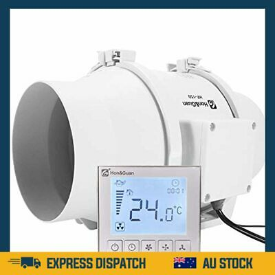AU234.99 • Buy  6 Inch Extractor Inline Duct Fan With Temperature & Timer Bathroom Ventilation