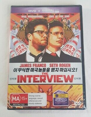 AU12.50 • Buy The Interview DVD James Franco Seth Rogan Columbia Pictures PAL 2 4 Sealed NEW