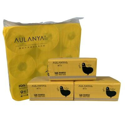 AU29.95 • Buy 9 Rolls AULANYA Bamboo Bag Toilet Paper 3 Box Pack Paper Cleaning Product