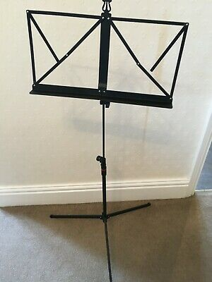 Dixon Folding And Adjustable Height Sheet Music Stand  - Black • 2£