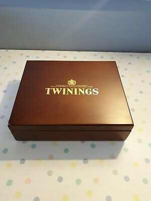 Twinings 12 Wooden Compartment Tea Chest Box  • 12£