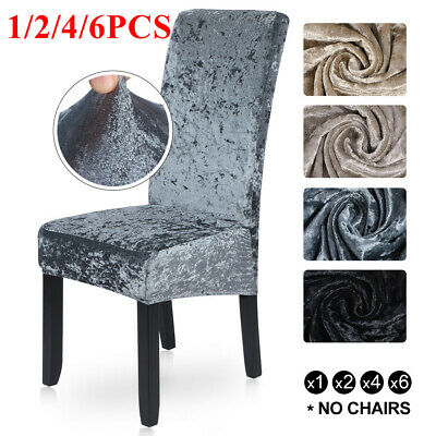 Crushed Velvet Dining Chair Covers Stretchable Protective Slipcover Home Decor W • 3.99£