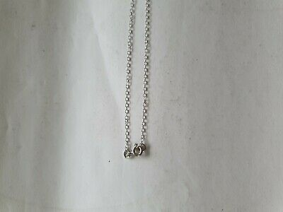 £45 • Buy 9ct White Gold Pendant Trace Chain 16