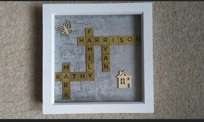 Personalised Family Scrabble Wording Picture Frames. • 13.50£
