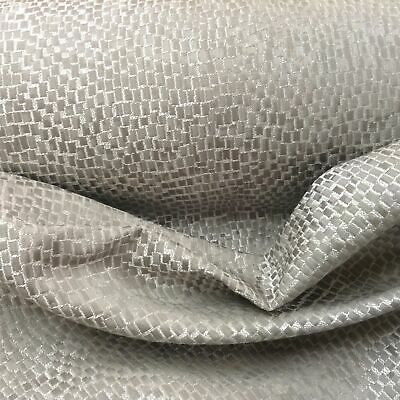 £19.99 • Buy Mosaic Silver Grey Faux Silk  Curtain/Craft/Upholstery Fabric