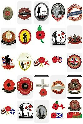 £3.49 • Buy Miltary Flower Lapel Badges/stickers Remembrance Donation To Help For Heroes
