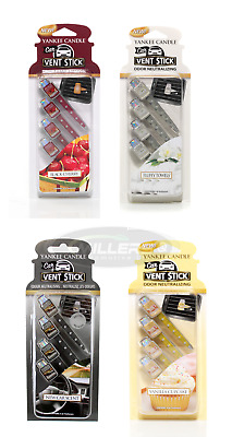 Yankee Candle Car Vent Stick Pack Of 4 Car Air Freshener *Choice Of Scents* • 5.99£