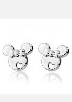 Cute Children's Silver Minnie Mouse Stud Earrings Christmas Gift • 4.99£