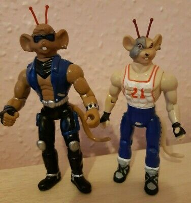 Vintage Biker Mice From Mars Action Figures  Vinnie And Throttle Set Of Two  G/C • 7.99£