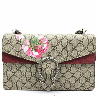 AU2999 • Buy Gucci Dionysus GG Supreme Bloom Floral Medium Shoulder Chain Bag-New&Authentic