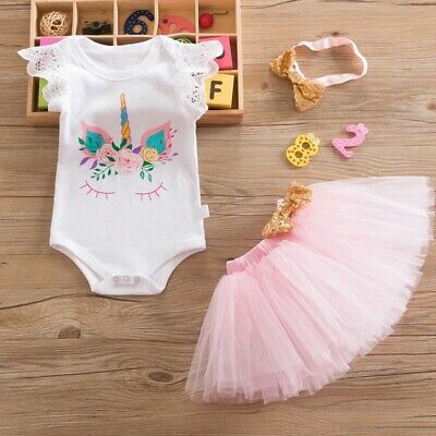 AU34.50 • Buy Baby Girl 1st Birthday Party Outfit Dress Tutu Peach One Wreath Cake Smash Set