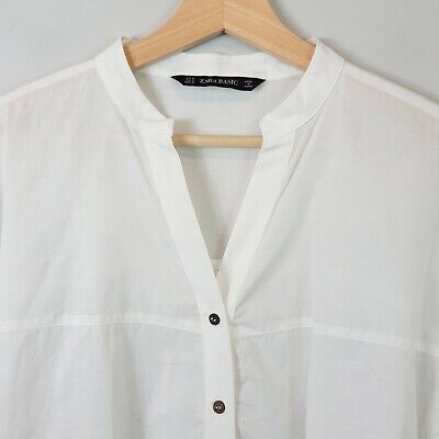 AU55 • Buy [ ZARA ] Womens White Blouse Shirt Top NEW | Size M Or AU 12 / US 8