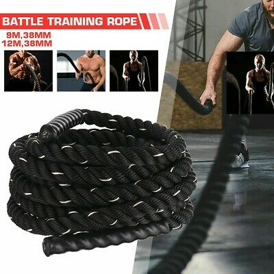 AU49.99 • Buy 9M/12M 38mm Home Gym Battle Rope Battling Strength Training Exercise Bootcamp