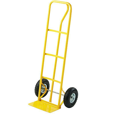 600lb Heavy Duty Sack Truck Industrial Hand Trolley With Pneumatic Tyre Wheel • 27.90£