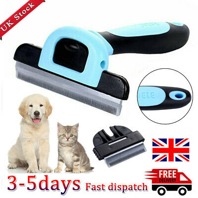 Pet Dog Cat Hair Fur Deshedding Shedding Trimmer Grooming Rake Comb Brush Tools~ • 7.87£
