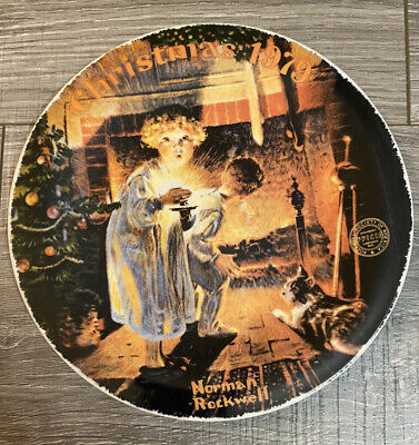 $ CDN3.95 • Buy Norman Rockwell Christmas 1979  Somebody's Up There  Collector's Plate