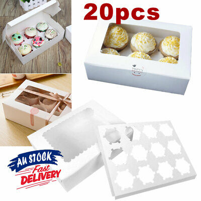 AU22.95 • Buy 6 Hole 12 Hole Face Gift Window Box Cake Cases Cupcake ACB#