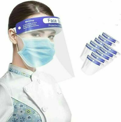 £4.25 • Buy 6 X Full Face Shield Visor Protection Mask Sheild Safety Clear PPE