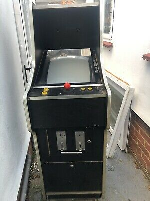 Arcade Machine Scramble, 1980s, Good Cabinet, 2 Player, Coin Operated, N/Working • 82£