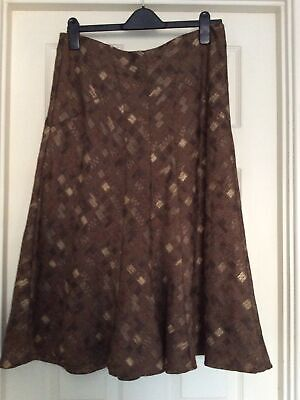 Ladies Alex & Co. Brown Patterned Skirt - Size 14 - Brand New Without Tag • 3.99£