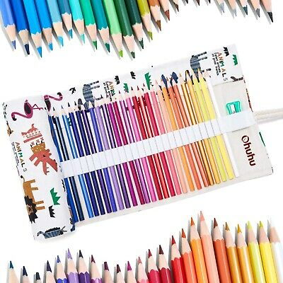 Ohuhu Oil-colored Pencils 48 Colors Coloring Book For Drawing In A Round Can Art • 34.08£