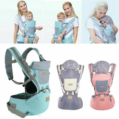 Ergonomic Infant Baby Carrier With Hip Seat Stool Adjustable Wrap Sling Backpack • 16.80£