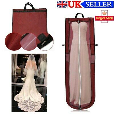 1.8M Large Wedding Dress Bridal Gown Garment Breathable Cover Storage Bag RED • 6.59£
