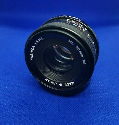 Yashica ML 50mm F/2 Manual Lens For Yashica/Contax C/Y Mount - Front Cap- Fungus • 17.99£