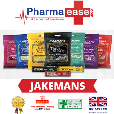 £2.90 • Buy Jakemans Throat And Chest Menthol Sweets + 6 Flavours 100g Bag/Stick Pack