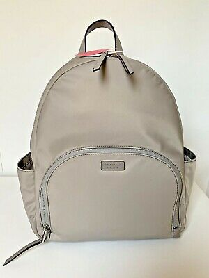 $ CDN299.22 • Buy Kate Spade Dawn Large Backpack Laptop Grey Nylon $299 Brand New Tags 100% Athntc