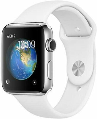 $ CDN63.58 • Buy Apple Watch Series 2 - 42MM Silver Stainless Steel White Sport Band