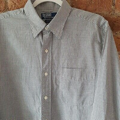 Polo Ralph Lauren 'Alcott' Long Sleeve Gingham Check Shirt Size L 16.5 /46  • 7£